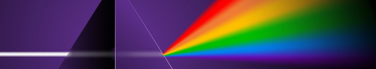 A prism refelcting light